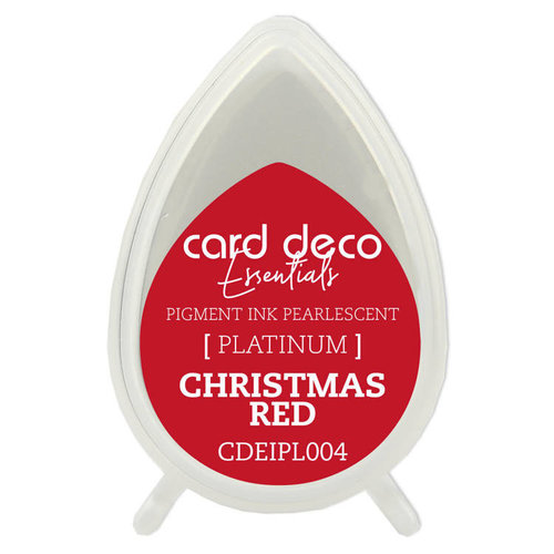 Card Deco CDEIPL004 - Card Deco Essentials Fast-Drying Pigment Ink Pearlescent Christmas Red
