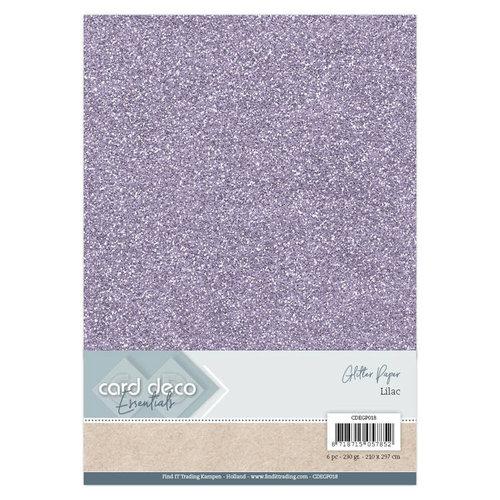Card Deco CDEGP018 - Card Deco Essentials Glitter Paper Lilac