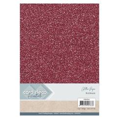 CDEGP016 - Card Deco Essentials Glitter Paper Bordeaux