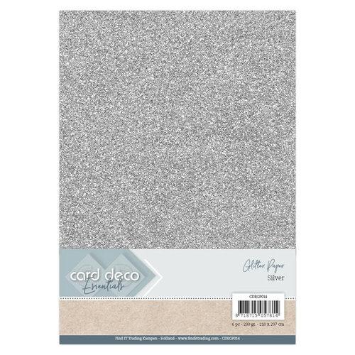 Card Deco CDEGP014 - Card Deco Essentials Glitter Paper Silver