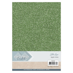 CDEGP006 - Card Deco Essentials Glitter Paper Apple Green