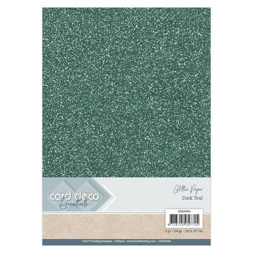 Card Deco CDEGP004 - Card Deco Essentials Glitter Paper Dark Teal