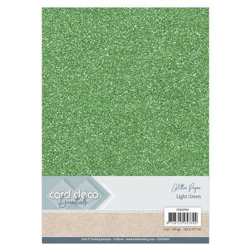 Card Deco CDEGP002 - Card Deco Essentials Glitter Paper Light Green