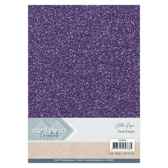 CDEGP001 - Card Deco Essentials Glitter Paper Dark Purple
