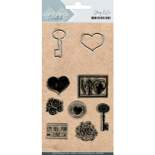 Card Deco CDESD009 - Clear stamps & Cutting Die