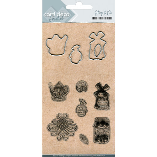 Card Deco CDESD007 - Clear stamps & Cutting Die