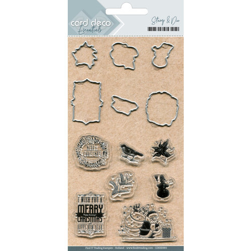 Card Deco CDESD001 - Clear stamps & Cutting Die