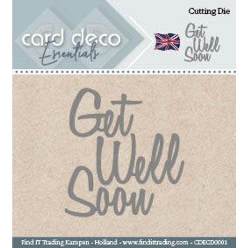 Card Deco CDECD0001 - Card Deco Cutting Dies- Get Well Soon