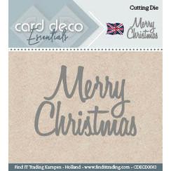 CDECD0003 - Card Deco Cutting Dies- Merry Christmas
