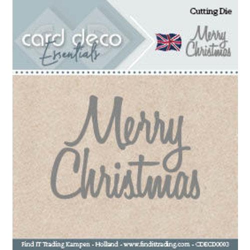 Card Deco CDECD0003 - Card Deco Cutting Dies- Merry Christmas