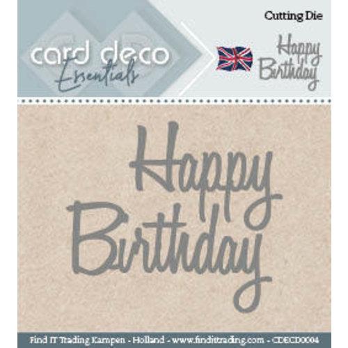 Card Deco CDECD0004 - Card Deco Cutting Dies- Happy Birthday