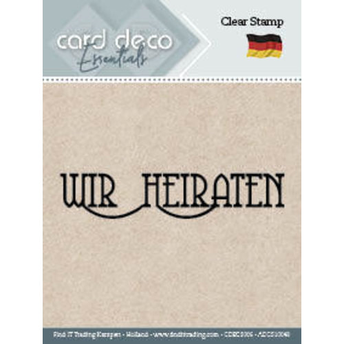 Card Deco CDECS006 - ADCS10049 - Wir Heiraten - Textstamp