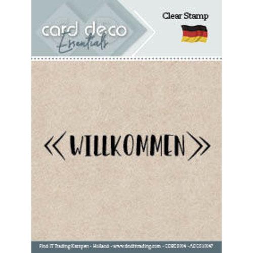 Card Deco CDECS004 - ADCS10047 - Willkommen - Textstamp