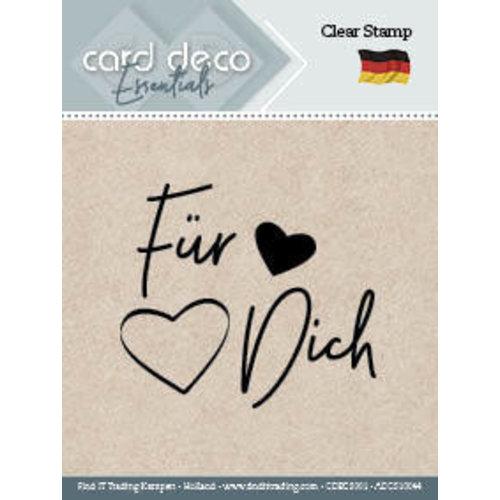Card Deco CDECS001 - ADCS10044 - Fur Dich - Textstamp