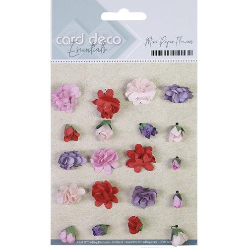 Card Deco CDEFL001 - Card Deco Essentials - Mini Paper Flowers - Pink