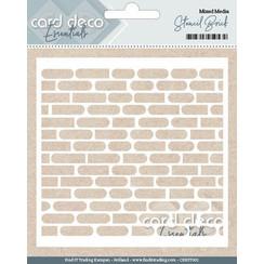 CDEST002 - Card Deco Essentials - Stencil Brick