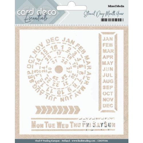 Card Deco CDEST004 - Card Deco Essentials - Stencil Day - Month - Year