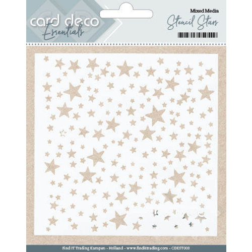 Card Deco CDEST003 - Card Deco Essentials - Stencil Stars