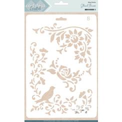CDEST005 - Card Deco Essentials - Stencil Flowers