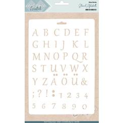 CDEST006 - Card Deco Essentials - Stencil Alphabeth