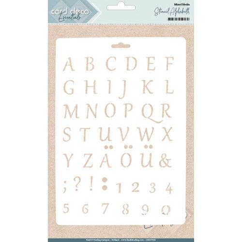 Card Deco CDEST006 - Card Deco Essentials - Stencil Alphabeth