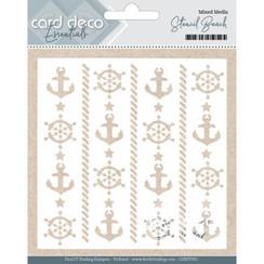 CDEST001 - Card Deco Essentials - Mixed Media Stencil Beach