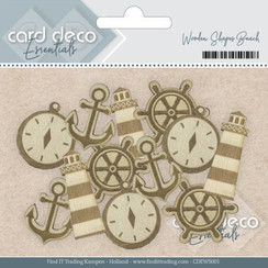 CDEWS001 - Card Deco Essentials - Wooden Shapes Beach