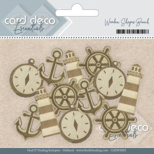 Card Deco CDEWS001 - Card Deco Essentials - Wooden Shapes Beach