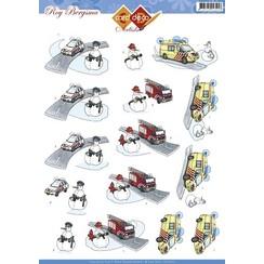 CD10421 - 10 stuks 3D knipvel - Roy Bergsma - Winter hulp