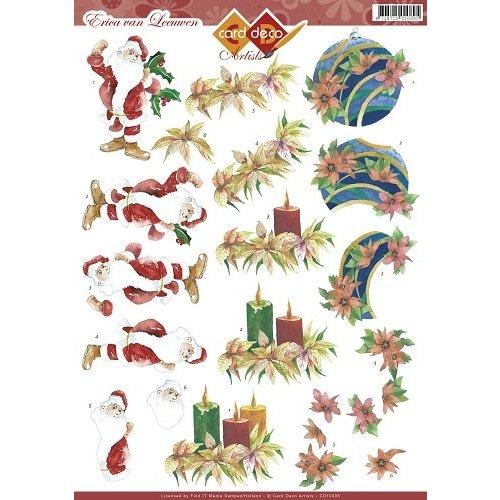 Card Deco CD10408 - 10 stuks 3D knipvel - Erica van Leeuwen - Christmas