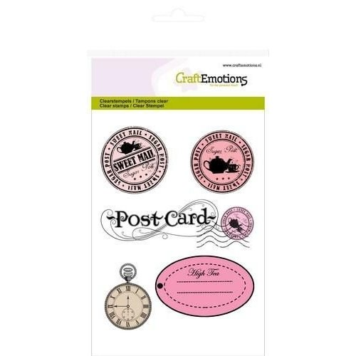 CraftEmotions CRE0049 - CraftEmotions clearstamps A6 - stempels en label High Tea Rose