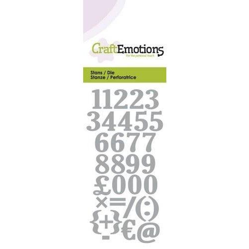 CraftEmotions 115633/0165 - CraftEmotions Die - cijfers Card 5x10cm