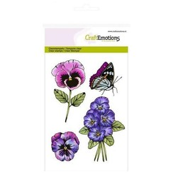 CRE0132 - CraftEmotions clearstamps A6 - violen 2 Sweet Violets