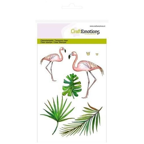 CraftEmotions CRE0138 - CraftEmotions clearstamps A6 - flamingo