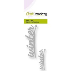 115633/0203 - CraftEmotions Die - tekst winter 2x Card 5x10cm