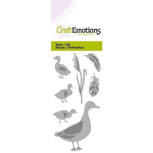 CraftEmotions 115633/0205 - CraftEmotions Die - eend met kleine eendjes Card 5x10cm