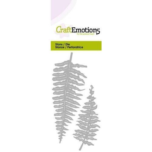 CraftEmotions 115633/0213 - CraftEmotions Die - varen bladeren Card 5x10cm