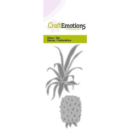 CraftEmotions 115633/0216 - CraftEmotions Die - ananas Card 5x10cm