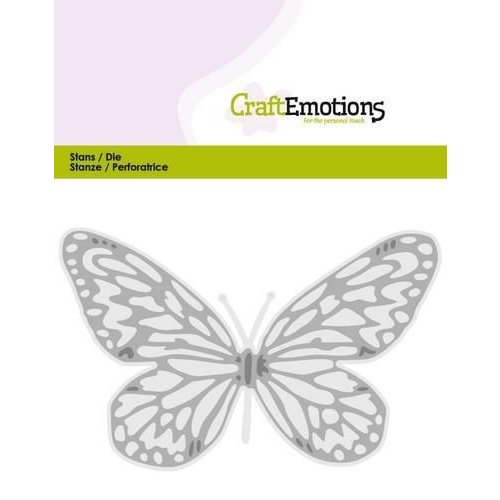 CraftEmotions 115633/0353 - CraftEmotions Die - vlinder groot Card 5x10cm