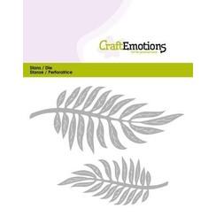 115633/0355 - CraftEmotions Die - tropische bladeren  Card 5x10cm