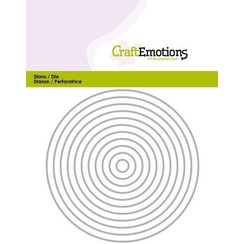 115633/0811 - CraftEmotions Die - randen recht cirkel Card 11x14cm