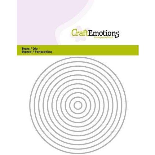 CraftEmotions 115633/0811 - CraftEmotions Die - randen recht cirkel Card 11x14cm