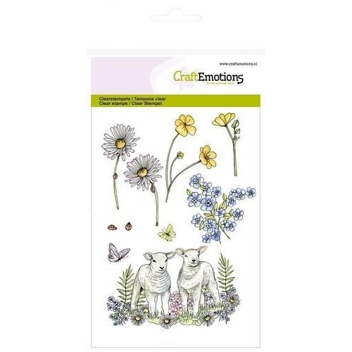 CraftEmotions CRE0166 - CraftEmotions clearstamps A6 - lammetjes