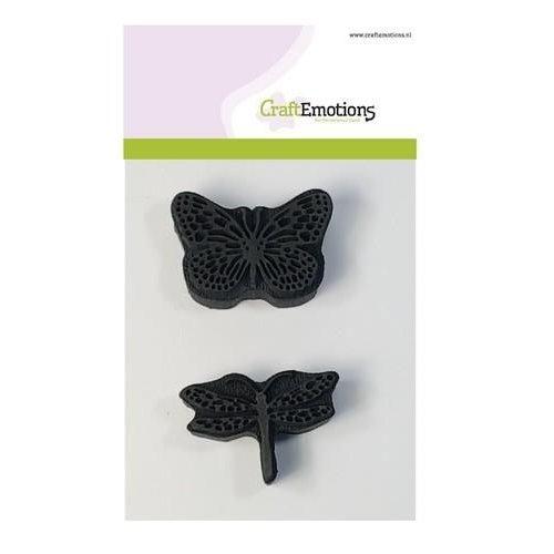 CraftEmotions 494.903.002 - CraftEmotions Foam stamps libelle vlinder 55mm - 55mm