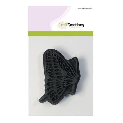 CraftEmotions 494.903.008 - CraftEmotions Foam stamp vlinder naar rechts 65mm x 85mm