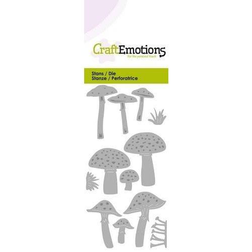 CraftEmotions 115633/0221 - CraftEmotions Die - diverse paddenstoelen Card 5x10cm