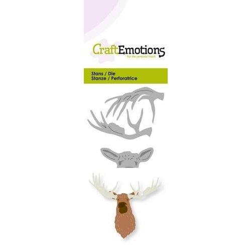 CraftEmotions 115633/0225 - CraftEmotions Die - kop eland 3D Card 5x10cm