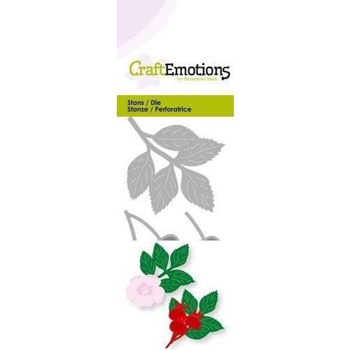 CraftEmotions 115633/0228 - CraftEmotions Die - rozenbottel 3D Card 5x10cm