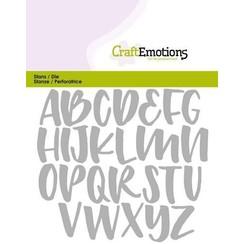 115633/0426 - CraftEmotions Die - alfabet handlettering hoofdletters Card 11x9cm Carla Kamphuis