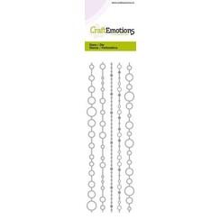 115633/0706 - CraftEmotions Die - Cutting border - circles 2 Card 5,0x21,5cm